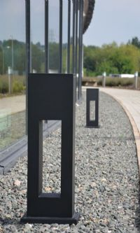 Obelisk Contemporary Bollard Path Light Aluminium
